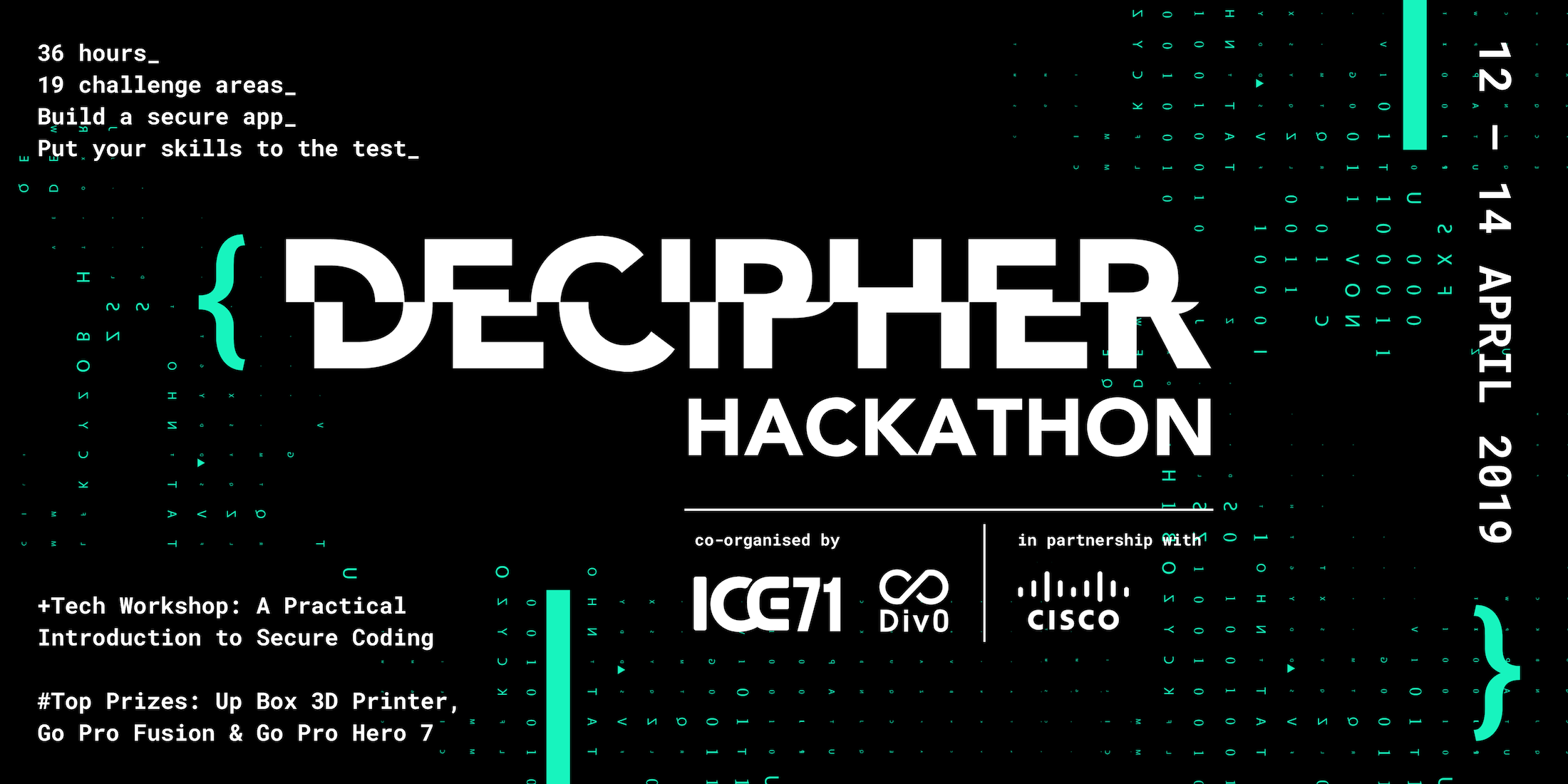 {DECIPHER} Hackathon – 12 to 14 April 2019