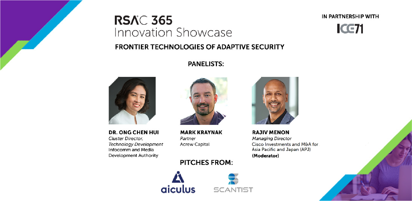 ICE71-RSAC 365 Innovation Showcase: Frontier Technologies of Adaptive Security