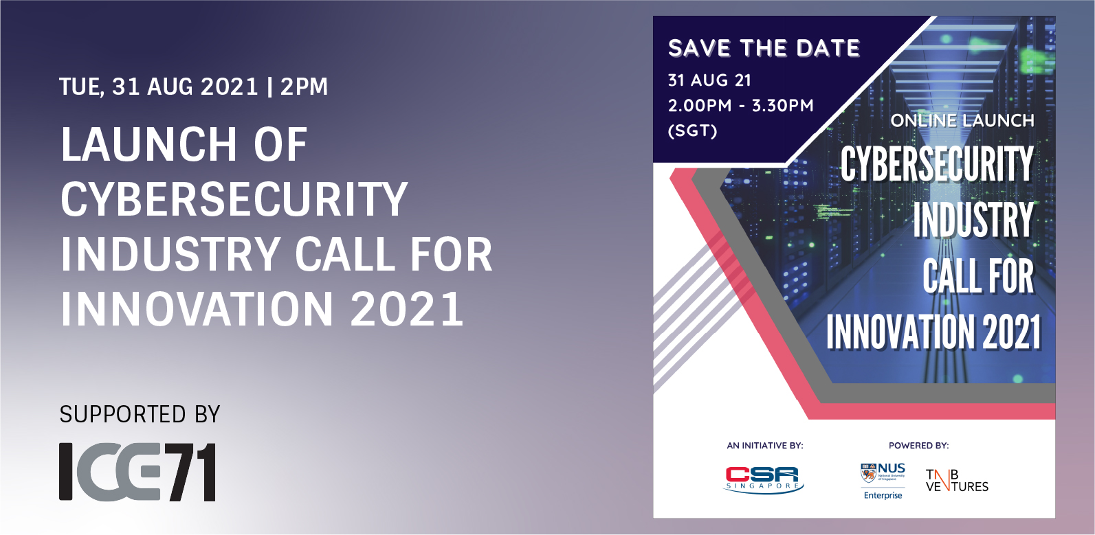 Virtual Launch of Cybersecurity Industry Call for Innovation 2021