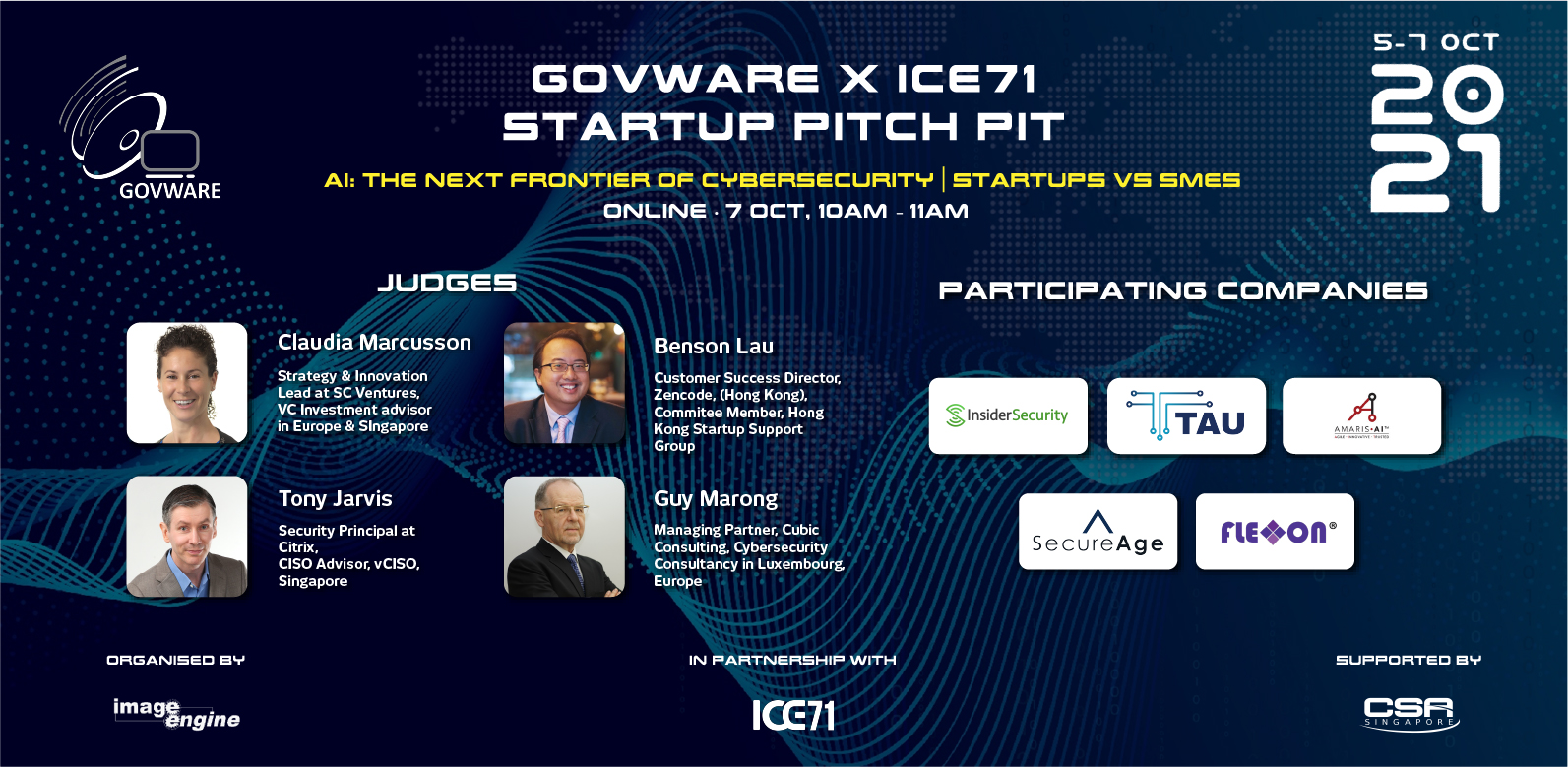 GovWare x ICE71 Startup Pitch Pit 2021